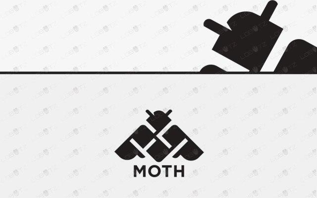 Modern Moth Logo For Sale | Premade Moth Logo