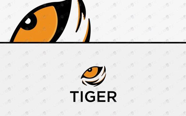 Modern Tiger Eye Logo For Sale   Premade Tiger Logo
