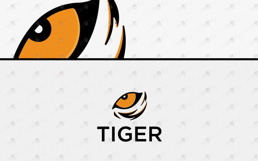 Modern Tiger Eye Logo For Sale | Premade Tiger Logo