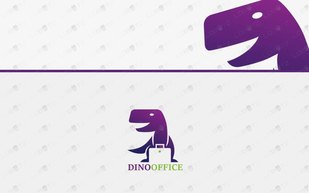 Office Dinosaur Logo For Sale | Dinosaur Office Logo