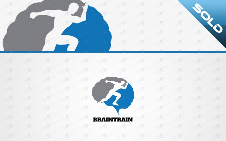 fitness brain logo for sale