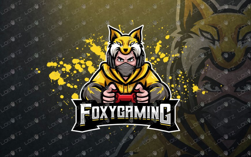 Foxy Gamer Logo For Sale | Gamer Mascot Logo