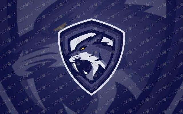 Sabertooth Mascot Logo | Premade Sabertooth eSports Logo For Sale