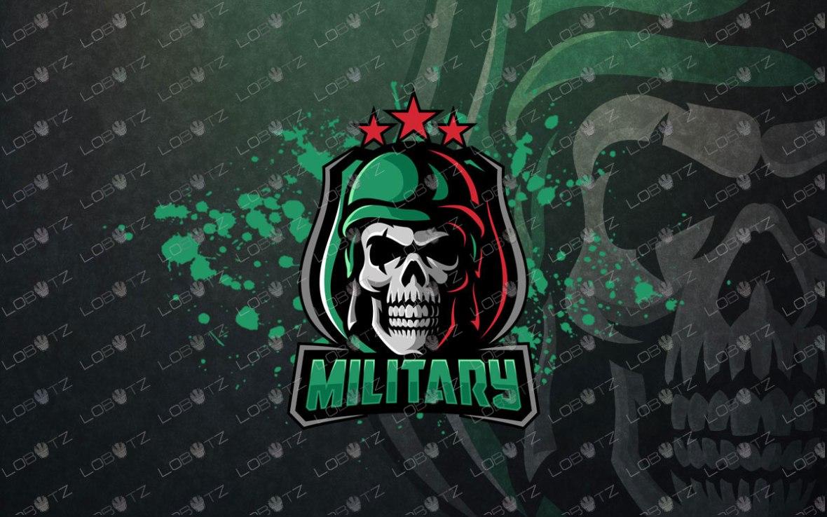 Skull Soldier Mascot Logo   Skull Soldier eSports Logo