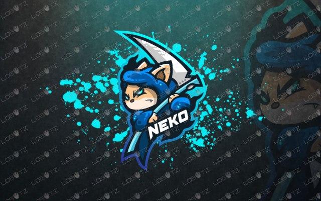 Cat Mascot Logo To Buy Online | Neko Mascot Logo For Sale reaper mascot logo