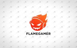 Flame Gamer Logo   Fire Gamer Logo For Sale