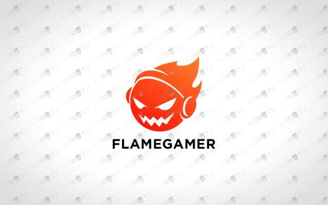Flame Gamer Logo | Fire Gamer Logo For Sale