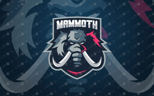 Mammoth Mascot Logo | Mammoth eSports Logo For Sale