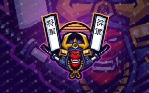 Samurai Mascot Logo   Premade Samurai eSports Logo For Sale
