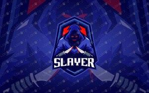 Slayer Mascot Logo   Slayer eSports Logo   Slayer Mascot Logo
