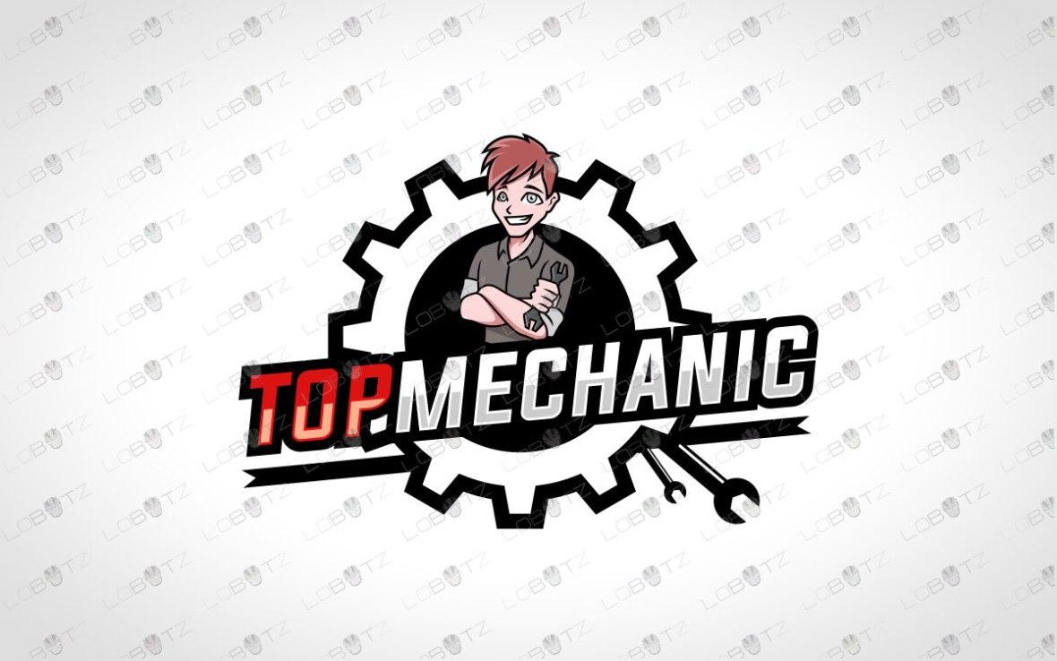 Mechanic Logo For Sale   Premade Mechanic Logo