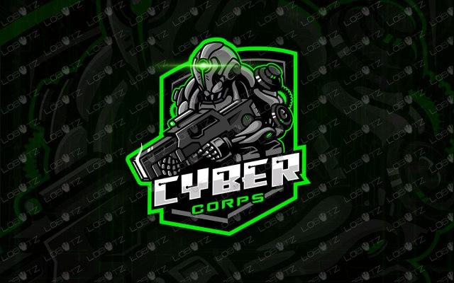 Cyber Soldier Mascot Logo Soldier eSports Logo Premade Logos