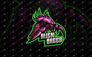 Alien Mascot Logo   Premade Alien eSports Logo For Sale