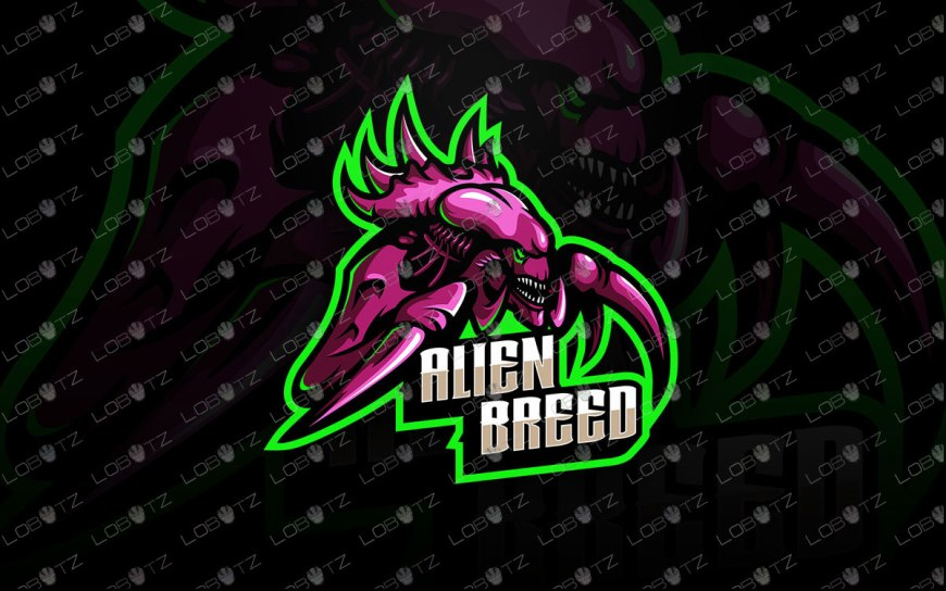 Alien Mascot Logo | Premade Alien eSports Logo For Sale