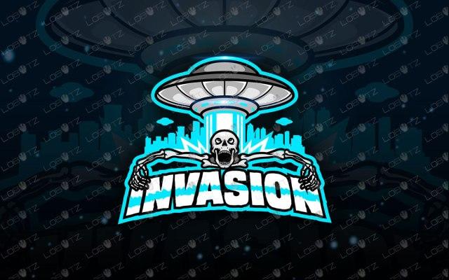 Alien Invasion Alien Mascot Logo | Skull Mascot Logo For Sale