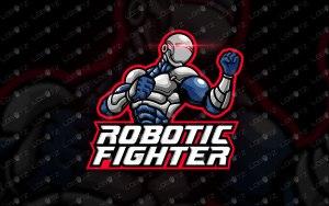 Robot Mascot Logo   Robot Fighter Logo   Robot eSports Logo