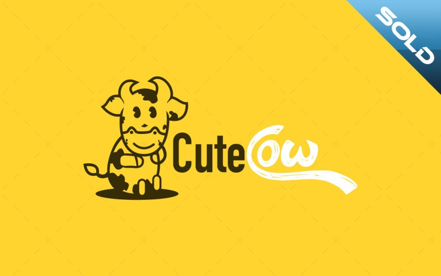 cute cow logo for sale