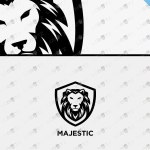 Premade Majestic Lion Logo | Royal Lion Logo For Sale