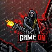 Grim Reaper Mascot Logo | Premade Reaper eSport Logo For Sale