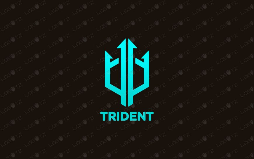 Trident Logo | Modern & Trendy Trident Logo For Sale