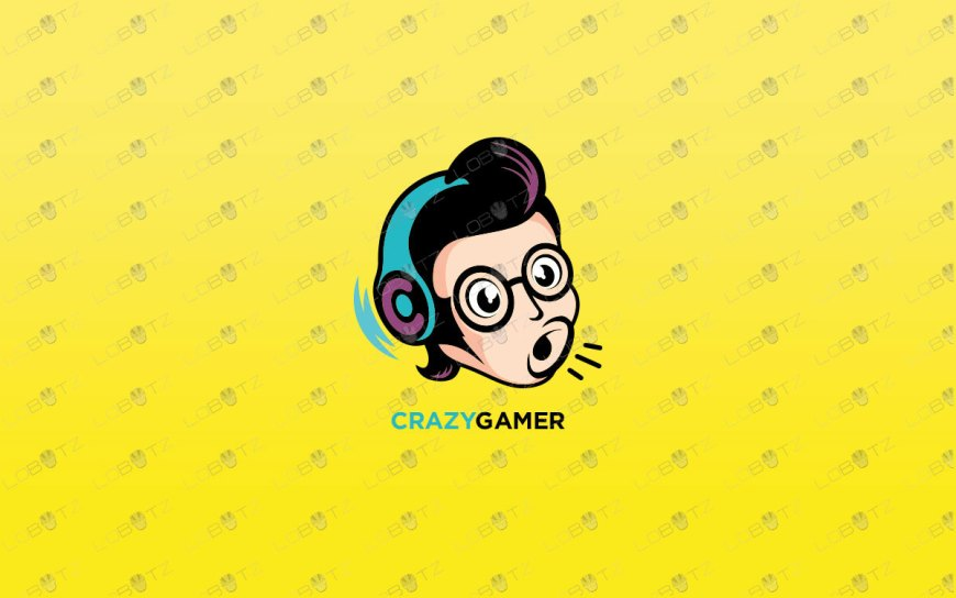 Crazy Gamer Logo For Sale | Premade Gaming Logos