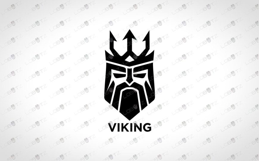 Minimalist Viking Logo For Sale | Premade Viking Logo