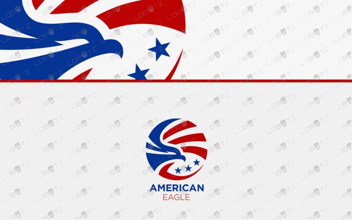 American Eagle Logo | Premade Eagle Logo For Sale