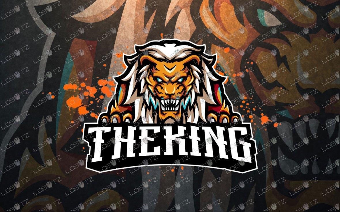 Breathtaking Lion Mascot Logo   Lion ESports Logo For Sale