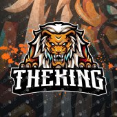 Breathtaking Lion Mascot Logo | Lion ESports Logo For Sale