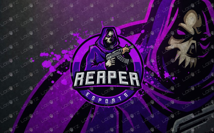 Skull Soldier mascot reaper Mascot Logo For Sale