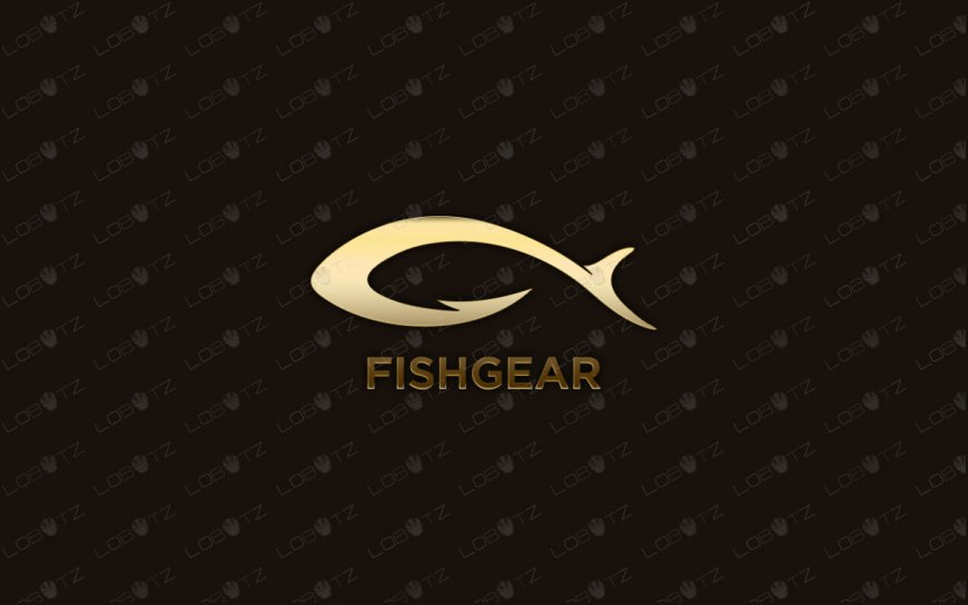 Modern & Creative Fish Gear Fishing Logo For Sale