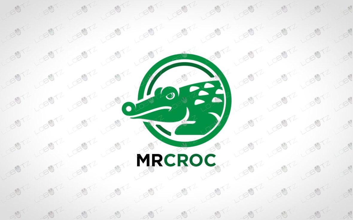 Strong Crocodile Logo For Sale Premade Logos