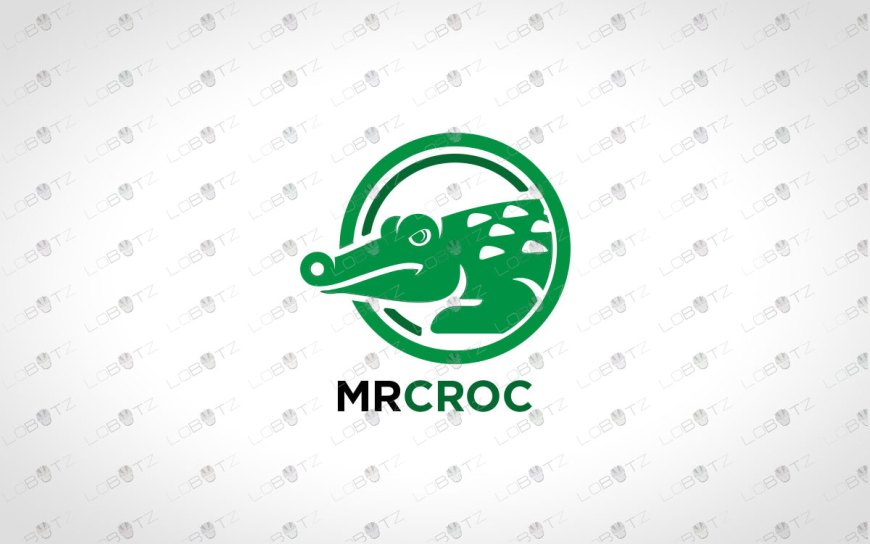 Strong Crocodile Logo For Sale Premade Logos
