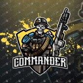 Skull Soldier eSports Logo Skull Soldier Mascot Logo