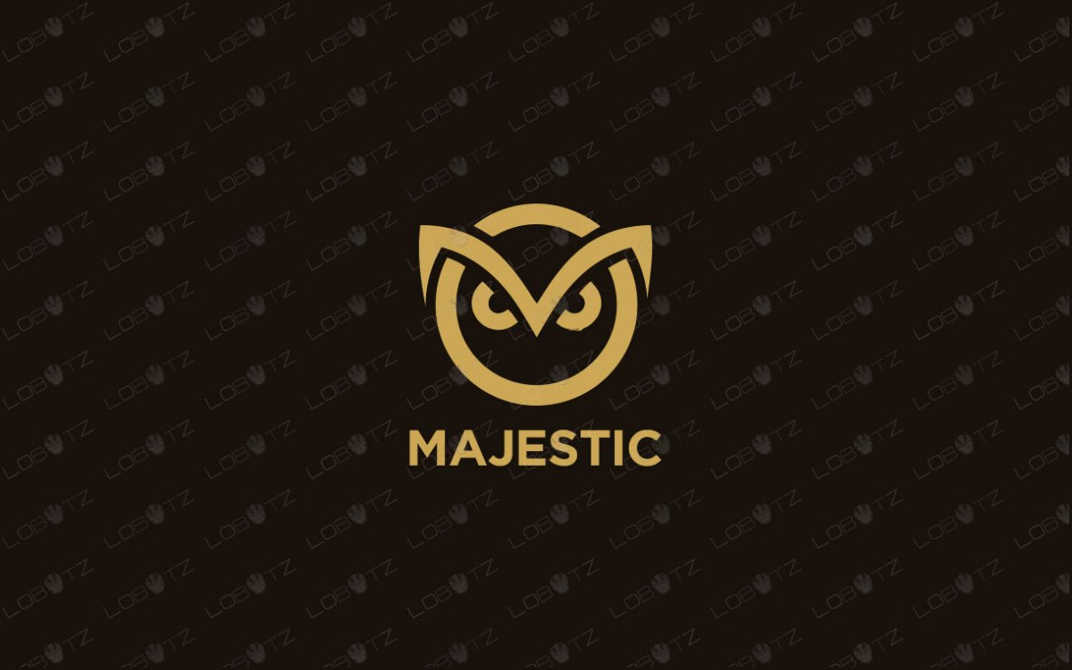 Spectacular Majestic Owl Logo For Sale