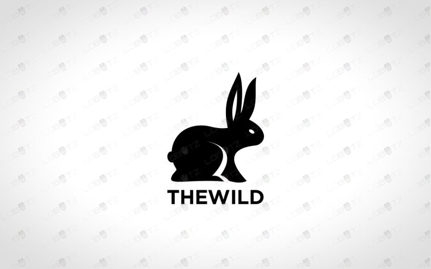Premade Rabbit Logo | Modern Bunny Logo For Sale