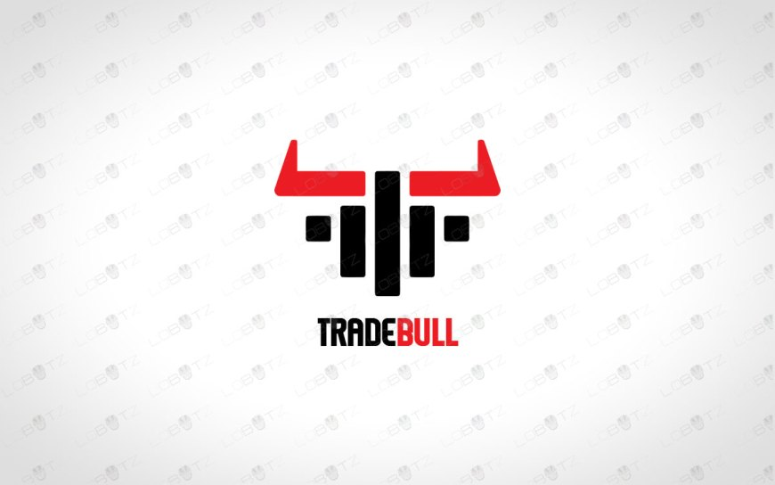 Trade Bull Logo For Sale | Strong Bull Logo