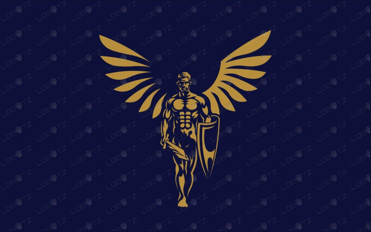 Premade Angel Logo For Sale | Angel Of War Logo