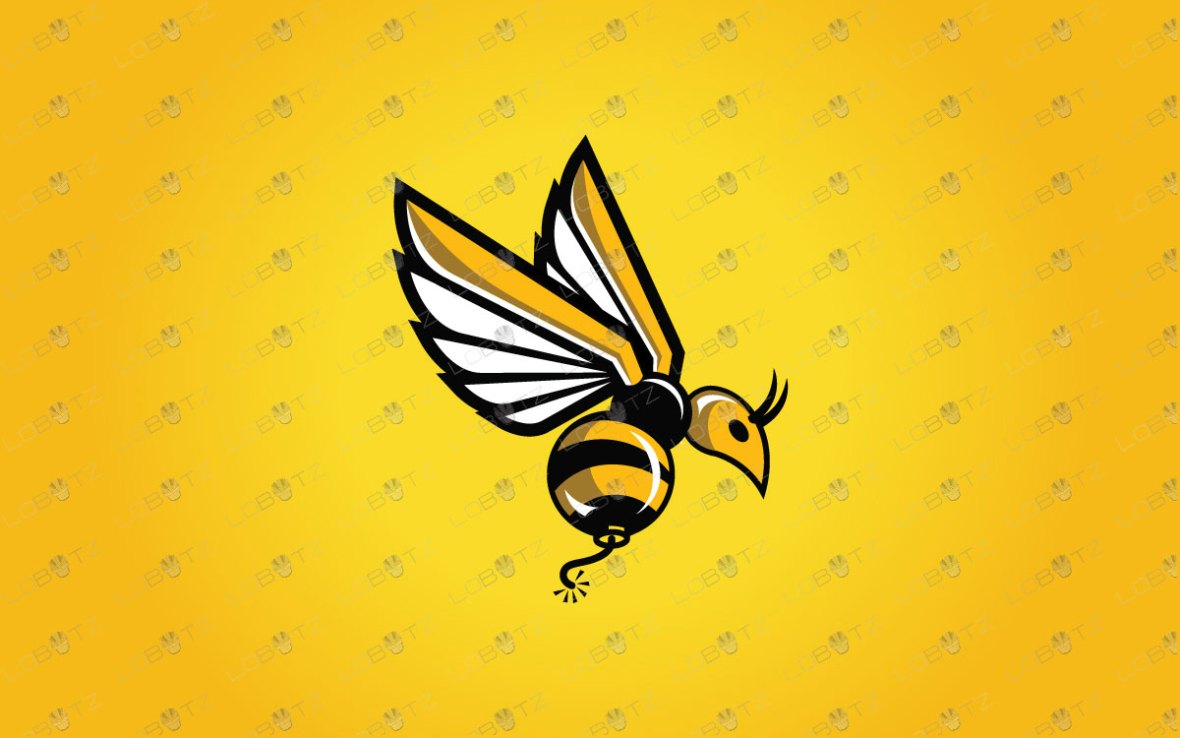 Bomber Humming Bee Logo For Sale