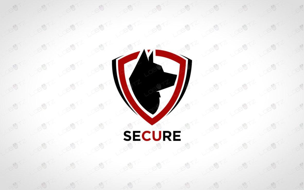 Security Dog Logo For Sale Dog Crest Logo