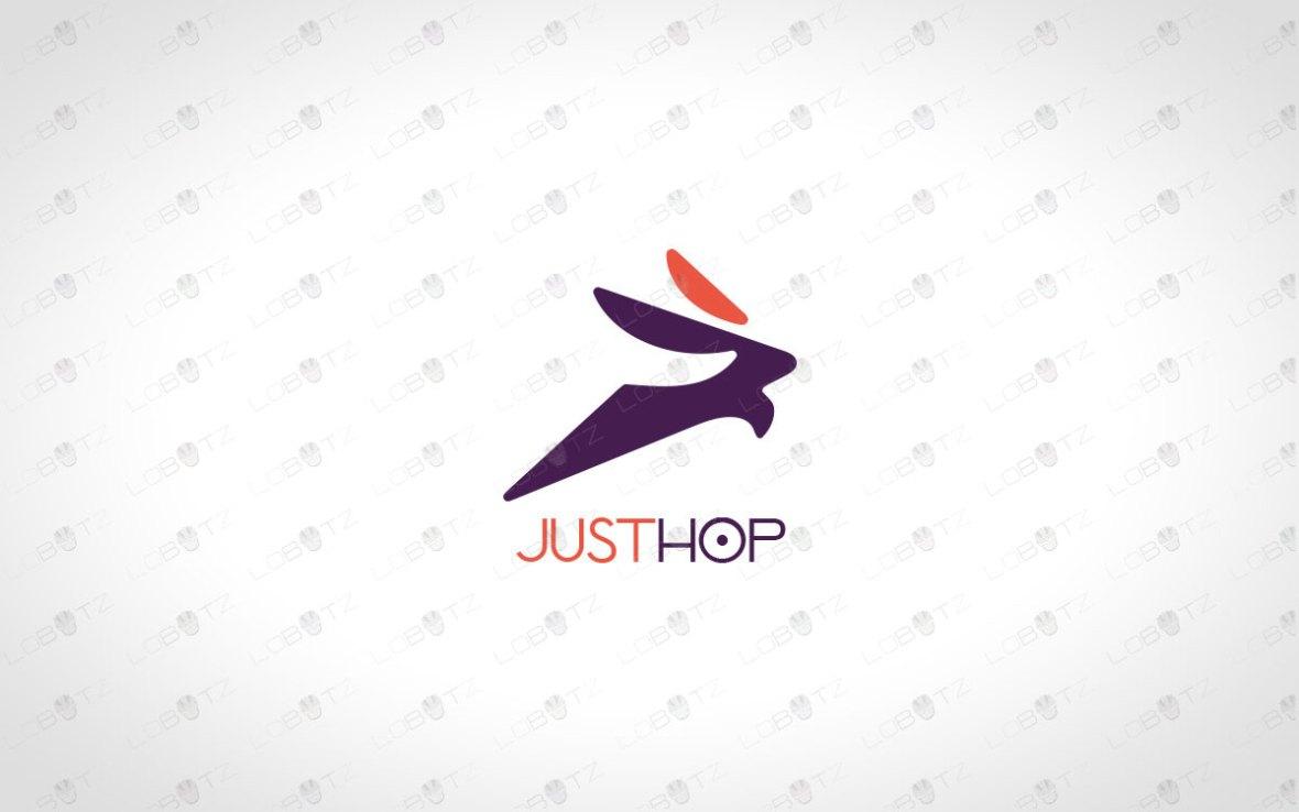 Modern Rabbit Logo For Sale   Bunny Logo