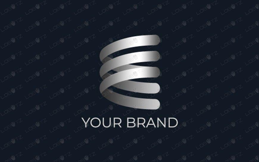 E Spring Ribbon Logo For Sale