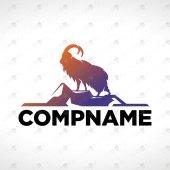 Premade Goat Logo For Sale