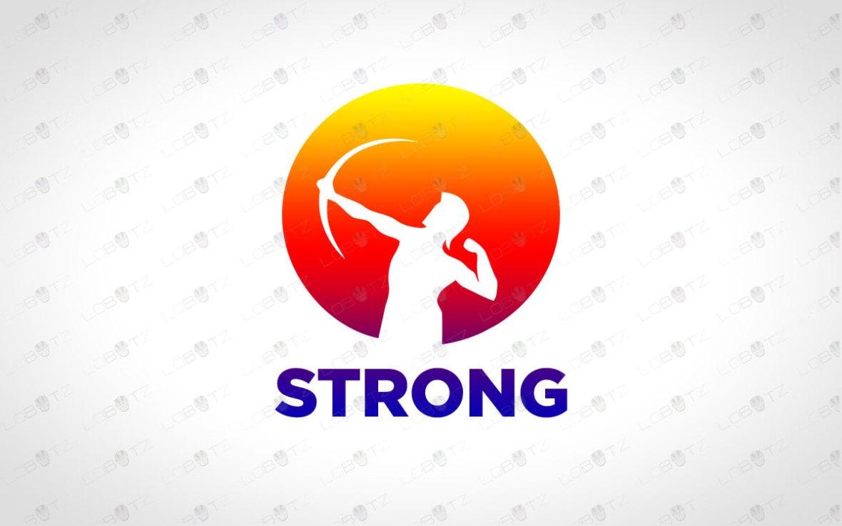 Archer Logo | Brand Logo | Strong Bow Logo For Sale