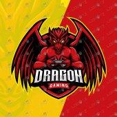 Premade Gamer Dragon Mascot Logo For Sale