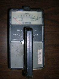 The milliRad meter to make sure we were safe.