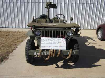Front view of the Jeep