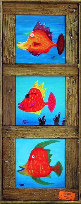 """""""A School Of Funky Fish"""" - 6"""" Tiles"""
