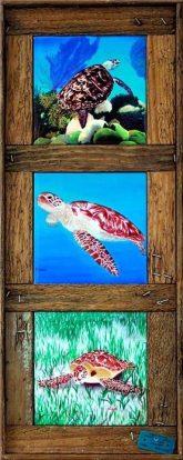 """Turtle Trio"" - 6"" Tiles"