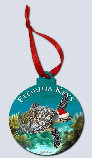 Christmas In Florida Keys.Christmas Turtle In The Florida Keys